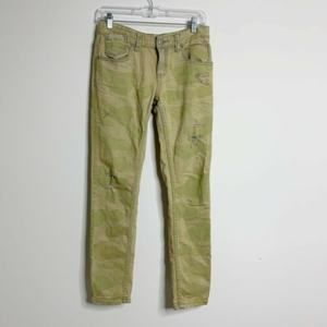 FREE PEOPLE Cotton Castro Wash Light Green Jeans